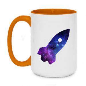 Kubek dwukolorowy 450ml Space rocket