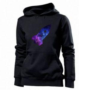 Women's hoodies Space rocket - PrintSalon