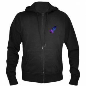 Men's zip up hoodie Space rocket - PrintSalon