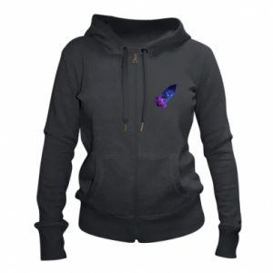 Women's zip up hoodies Space rocket - PrintSalon