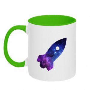 Two-toned mug Space rocket - PrintSalon