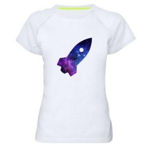 Women's sports t-shirt Space rocket - PrintSalon