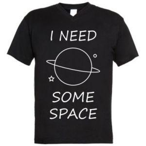 Męska koszulka V-neck Space
