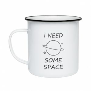 Enameled mug Space