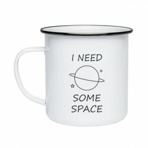 Kubek emaliowane Space
