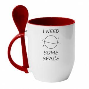 Kubek z ceramiczną łyżeczką Space