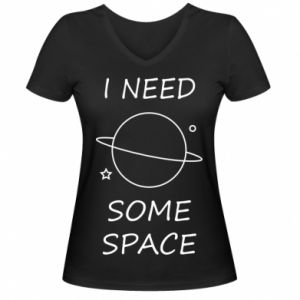 Damska koszulka V-neck Space