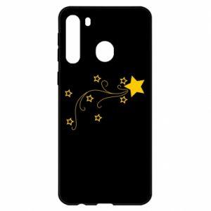 Etui na Samsung A21 Spadająca gwiazda na Boże Narodzenie