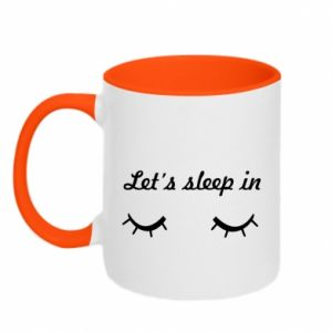 Two-toned mug Let's sleep in