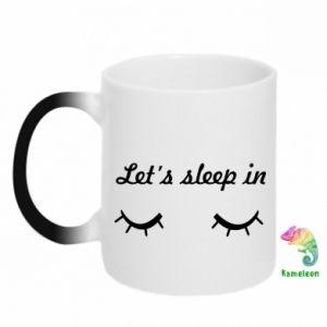 Kubek-kameleon Let's sleep in