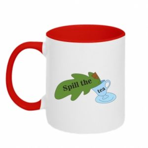 Two-toned mug Spill the tea - PrintSalon