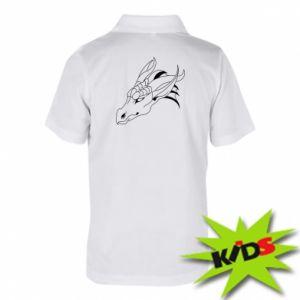 Koszulka polo dziecięca Spokojny wielki smok
