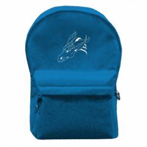 Plecak z przednią kieszenią Spokojny wielki smok