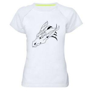 Koszulka sportowa damska Spokojny wielki smok