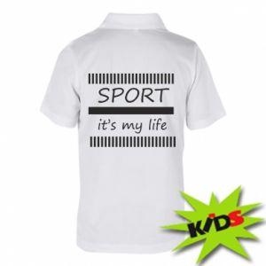 Dziecięca koszulka polo Sport it's my life