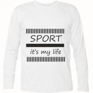 Long Sleeve T-shirt Sport it's my life