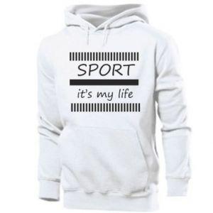 Męska bluza z kapturem Sport it's my life