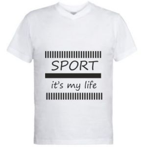 Men's V-neck t-shirt Sport it's my life