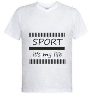 Męska koszulka V-neck Sport it's my life