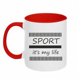 Kubek dwukolorowy Sport it's my life