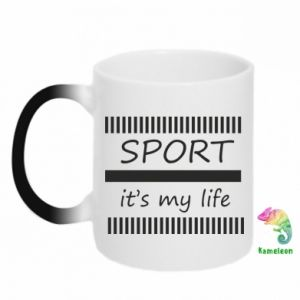 Kubek-kameleon Sport it's my life