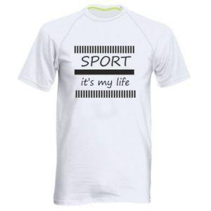 Męska koszulka sportowa Sport it's my life