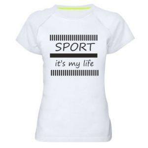 Damska koszulka sportowa Sport it's my life