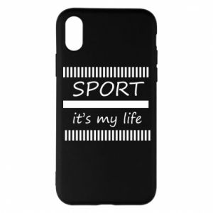 Etui na iPhone X/Xs Sport it's my life