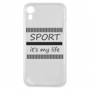 Etui na iPhone XR Sport it's my life