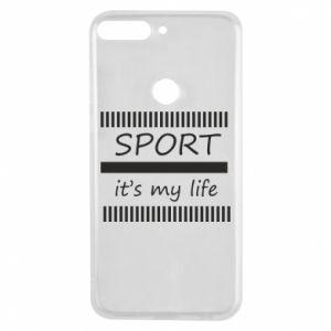 Etui na Huawei Y7 Prime 2018 Sport it's my life