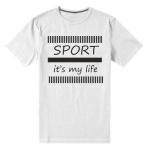 Męska premium koszulka Sport it's my life