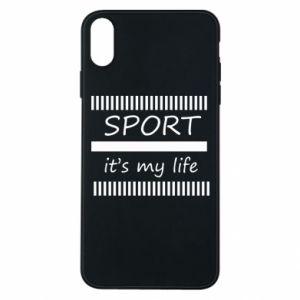 Etui na iPhone Xs Max Sport it's my life