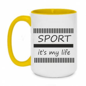 Kubek dwukolorowy 450ml Sport it's my life