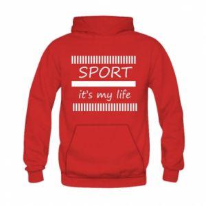 Bluza z kapturem dziecięca Sport it's my life