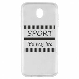 Etui na Samsung J7 2017 Sport it's my life