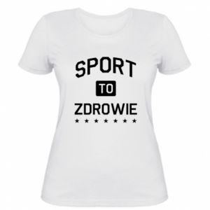 Damska koszulka Sport to zdrowie