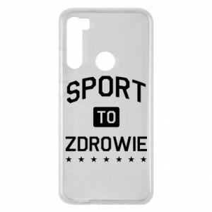 Xiaomi Redmi Note 8 Case Sport is health