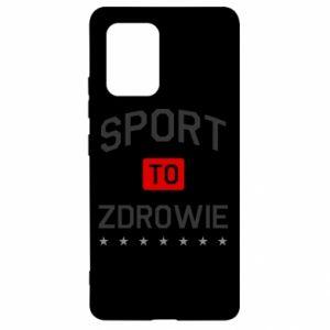 Samsung S10 Lite Case Sport is health