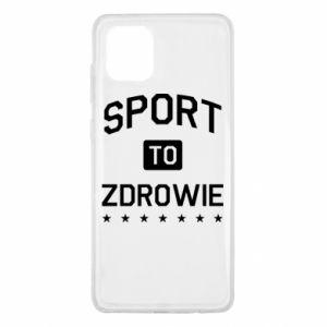 Samsung Note 10 Lite Case Sport is health