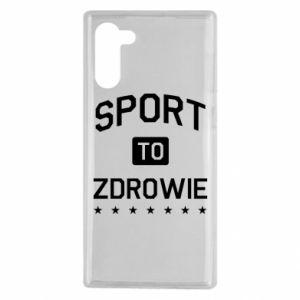 Samsung Note 10 Case Sport is health