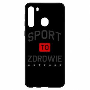 Etui na Samsung A21 Sport to zdrowie