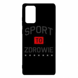 Etui na Samsung Note 20 Sport to zdrowie