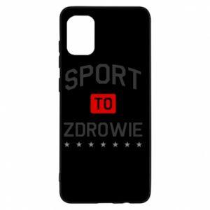 Etui na Samsung A31 Sport to zdrowie