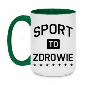 Two-toned mug 450ml Sport is health