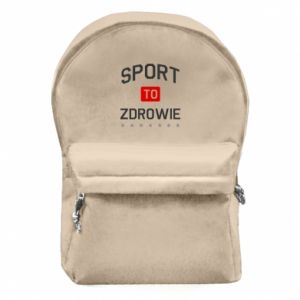 Backpack with front pocket Sport is health
