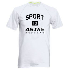 Men's sports t-shirt Sport is health