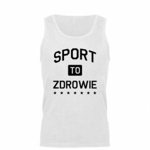 Męska koszulka Sport to zdrowie