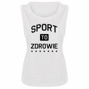 Damska koszulka bez rękawów Sport to zdrowie