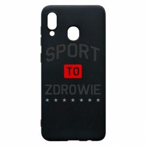 Samsung A20 Case Sport is health