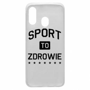Samsung A40 Case Sport is health